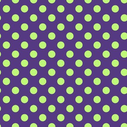 Hometown Halloween Dots - Lime on Purple