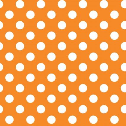 Kimberbell Basics MAS8216-O (.5 White Dots on Orange)