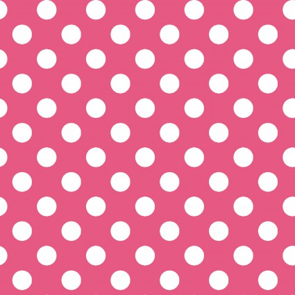 Kimberbell Basics - Dots #8216-P (white on pink)