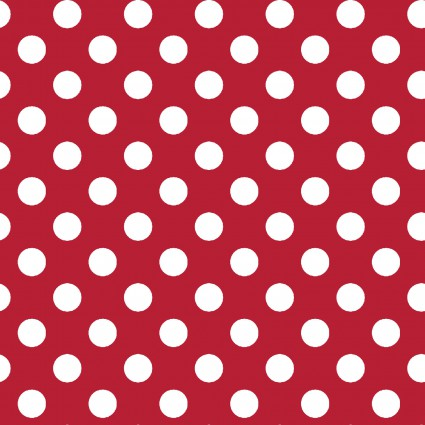 KimberBell Basics MAS8216-R (.5 White Dots on Red)
