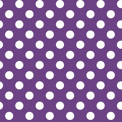Broomhilda's Bakery White Dots on Purple