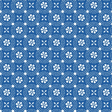 Kimberbell Basics Blue Dotted Circles Fabric