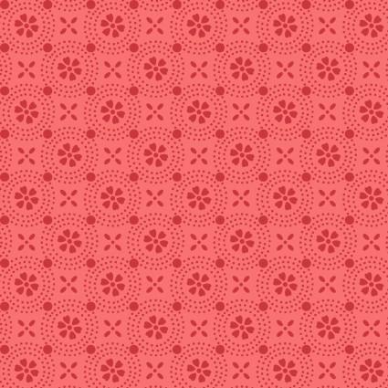 KimberBell MAS8241-CP Dotted Circles Peachy Pink