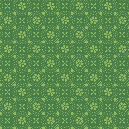 Kimberbell Basics Green Dotted Circles Fabric