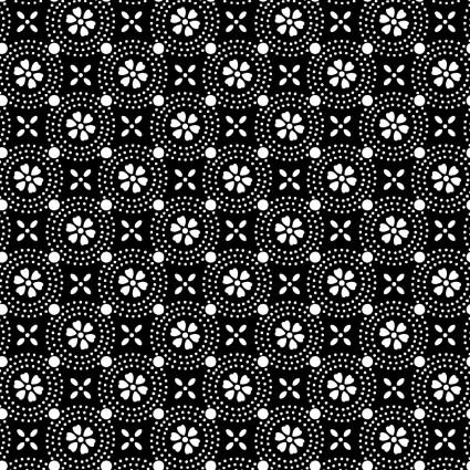 Kimberbell Basics Black Dotted Circles Fabric
