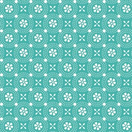 KimberBell Basics Dotted Circles SEAFOAM 8241Q