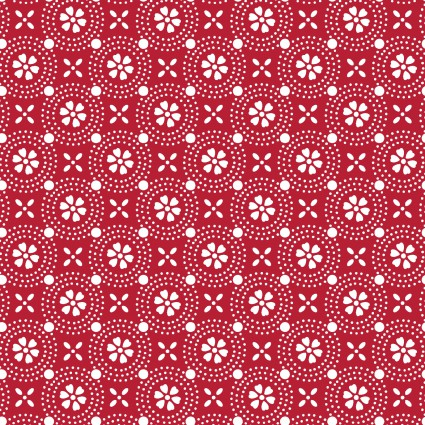 Kimberbell Basics Red Dotted Circles Fabric