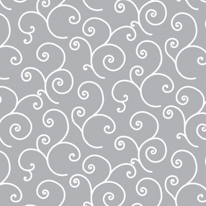 Kimberbell Basics Gray Scroll