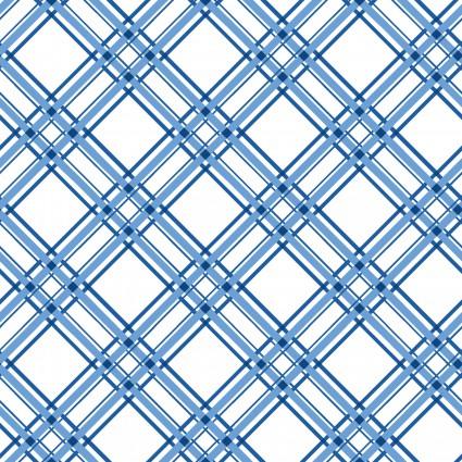KimberBell Basics Blue Diagonal Plaid
