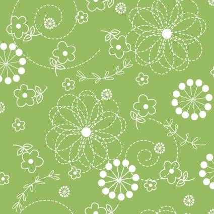 KimberBell Basics--Green floral