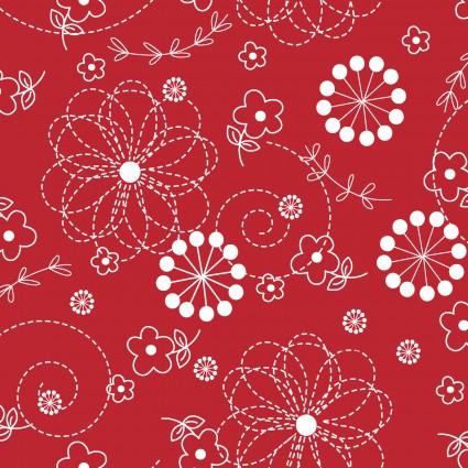 KimberBell Basics - Red Doodles