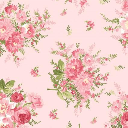 Heather, floral bouquet, soft pink