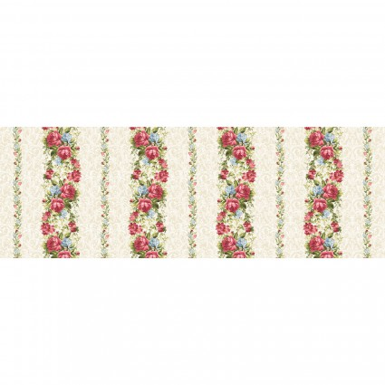 Maywood Roses on the Vine - Stripes MAS8431-E