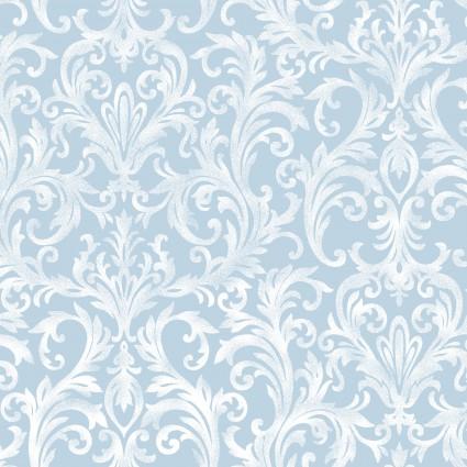 Maywood Roses on the Vine - White/Blue Swirls MAS8436-B2