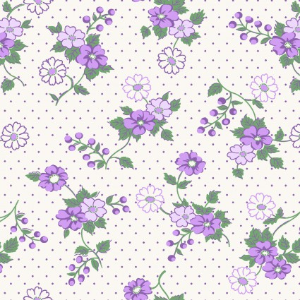 Berries & Blossoms Lilac Dot Floral
