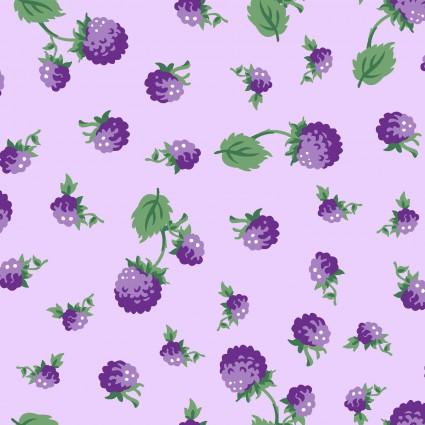 Berries & Blossoms  Purple Raspberries - 1 yard cut
