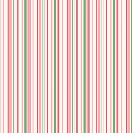 Berries & Blossoms - Pink Stripe