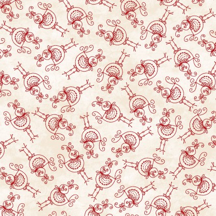 The Little Things Cream w/red Birds