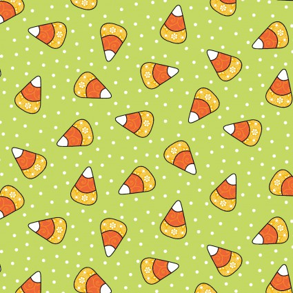 Broomhilda's Bakery - Candy Corn on Green