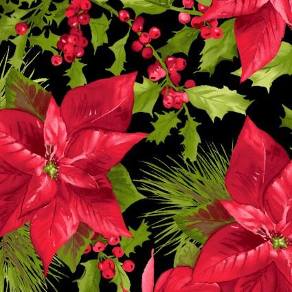 Poinsettia & Pine MAS9120-J