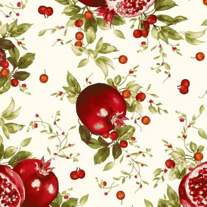 Bountiful, Pomegranates, cream