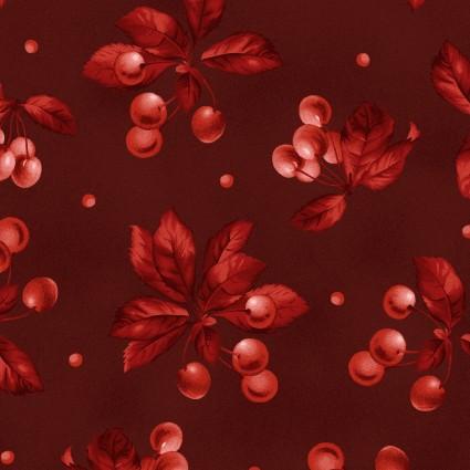 Maywood Studio A Fruitful Life Cherries on Burgandy