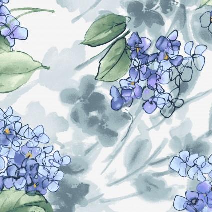 Watercolor Hydrangeas Lavender Hydrangeas