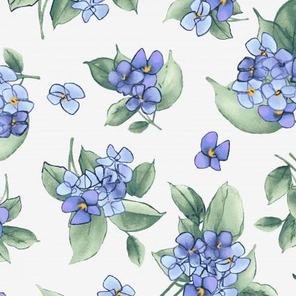 Watercolor Hydrangeas Lavender Hydrangea Posy