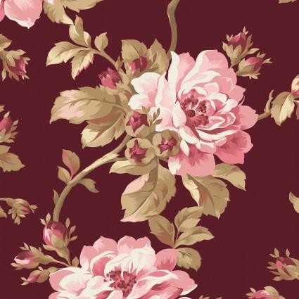 Burgundy & Blush Burgundy Trailing Roses by Maywood Studio
