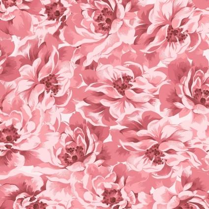 Burgundy & Blush Pink Full Bloom Tonal by Maywood Studio