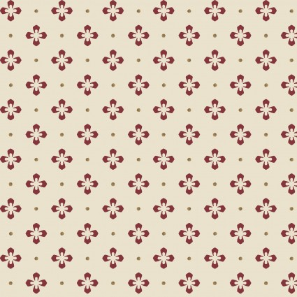 Burgundy & Blush Vintage Foulard Dot designed by Maywood Studio