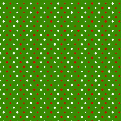 All the Trimmings green background dots