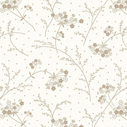 Make Yourself At Home Queen Anne's Lace - White and Taupe