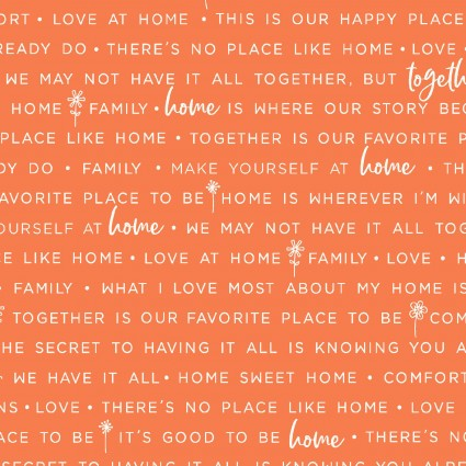 Make Yourself at Home Home Phrases-Orange