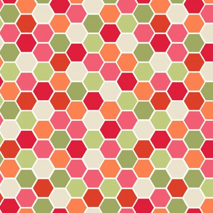 Make Yourself at Home Mini Hexagons Red/Green