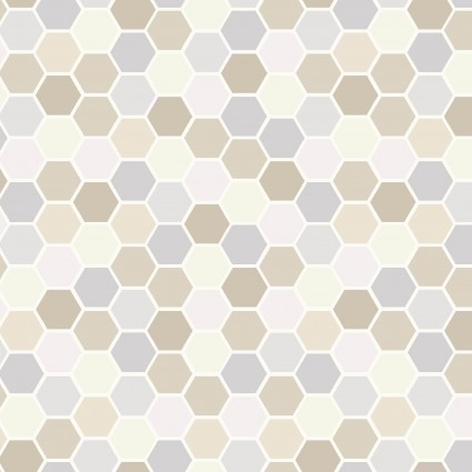 Make Yourself at Home Mini Hexagons- Taupe/Gray