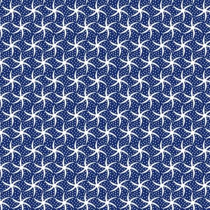 Turtle Bay, Mini Starfish, Navy designed by Maywood Studios, MAS9527-N