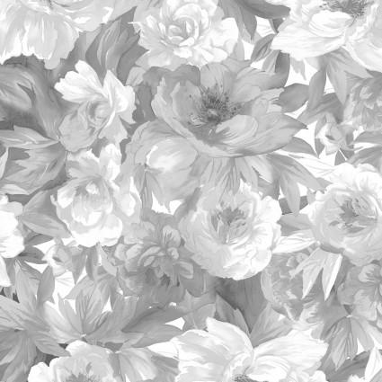 Nocturne- Black/gray & white roses