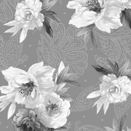 Nocturne- White/black/Gray roses