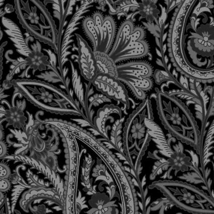 Nocturne- Black/white scroll