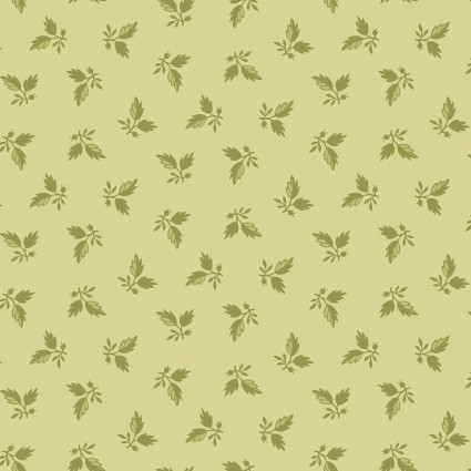 Maywood Sensibility Leaf Clusters - Green (Min Order of 1m)
