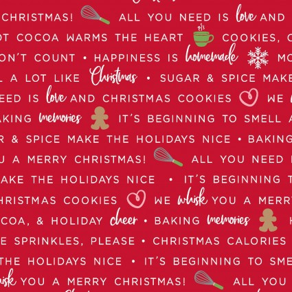 Holiday Baking Phrases, Red