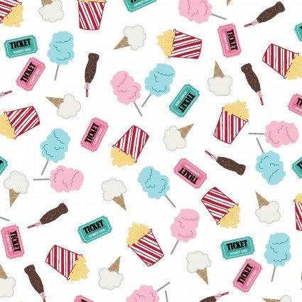 White Fun Snacks-Vintage Boardwalk