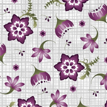 Amour Stylized Floral Grey