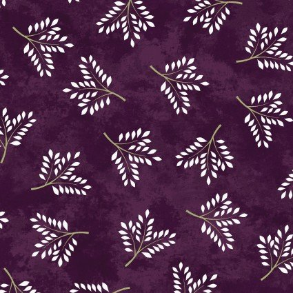 Amour-white sprigs on purple