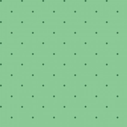 30's - Story Time - Green Petite Dots