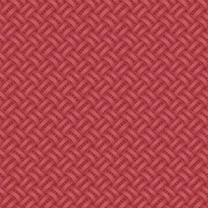 Lexington Red Basket Weave