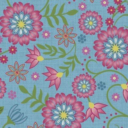 Flower & Vine Blue Flowers