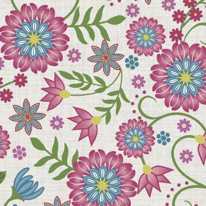 Flower & Vine Cream Flowers