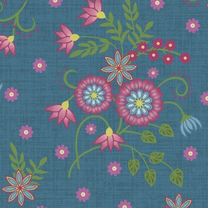 Flower & Vine Small Floral Blue